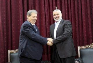 Ruhi Fatuh, mantan presiden Otoritas Palestina kunjungi Jalur Gaza (felesteen.ps)