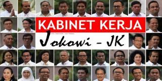 Para menteri di Kabinet Kerja. (Kompas)