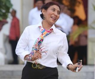 Susi Pudjiastuti, Menteri Kelautan dan Perikanan Kabinet Kerja Jokowi-JK.  (detik.com)