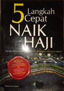 """Cover buku """"5 Langkah Cepat Naik Haji""""."""