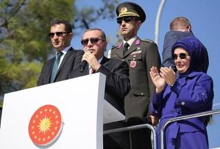 Erdogan berpidato di depan pengungsi Suriah di Gaziantep (anadolu)