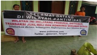 Warga Tangsel berinisiatif menjadikan lingkungan tempat tinggal mereka sebagai Kampung Anti Miras. (GeNAM)