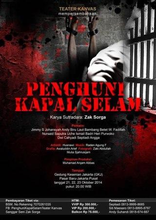 """Ilustrasi - Poster pertunjukan """"Penghuni Kapal Selam"""" oleh Teater Kanvas. (dakwatuna/hdn)"""