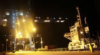 Suasana panggung pengumuman kabinet di Pelabuhan Tanjung Priok, Jakarta Utara. (lensaindonesia)