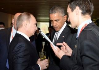 Presiden Obama dan Presiden Putin di KTT APEC di Beijing (detik-reuter)