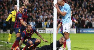 Pertandingan Manchester City vs Barcelona tahun lalu. (manchestereveningnews.co.uk)