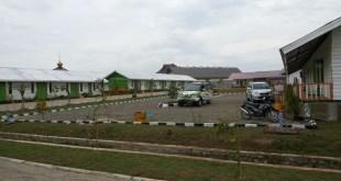 Integrated Community Shelter/ICS  yang dibangun Aksi Cepat Tanggap (ACT) di Desa Blang Adoe, Kecamatan Kuta Makmur, Aceh Utara.  (ACTNews)