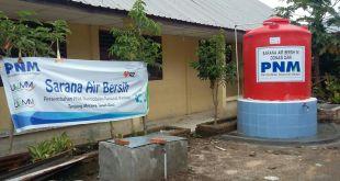Sarana Air Bersih bagi korban gunung sinabung Tanah Karo Medan, Sumatera Utara. (Rena/RZ)