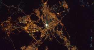 Foto kota Makkah dari satelit. (twitter)