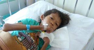 RGM (9), balita gizi buruk yang dirawat di RS Koja. (merdeka.com)