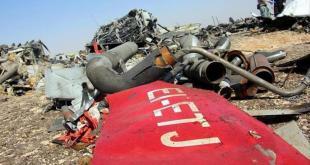 Puing-puing pesawat Rusia yang jatuh di Mesir. (anadolu)
