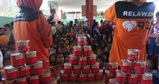 RZ (Rumah Zakat) cabang Makassar menyalurkan 510 kornet Superqurban di Kampung Nelayan, Kelurahan Untia, Kecamatan Biringkanayya. (Rena/RZ)