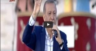 Cuplikan dari rekaman video pidato Erdogan di hari peringatan penaklukan Konstantinopel. (egyptwindow.net)
