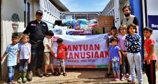 Tim SOS Syria - ACT mendistribusikan bantuan ke kamp-kamp pengungsi Suriah. (ACTNews)