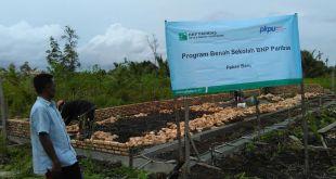 Pembangunan gedung sekolah dasar untuk anak-anak di Desa Sokop Bandaraya, Kecamatan Rangsang Pesisir, Kabupaten Meranti, Riau. (ma/putri/PKPU)
