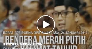 [Video] Ini Interupsi Almuzzammil Yusuf Soal Tulisan Pada Bendera Merah Putih