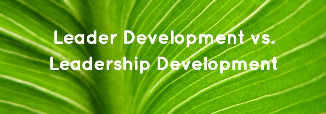 Leader Development vs. Leadership Development