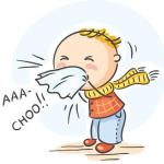 Hay fever-like symptoms such as, sneezing or itchy eyes