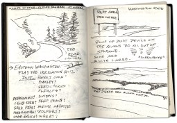 A spread from Pete's sketchbook