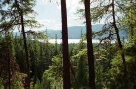 Lake MacDonald peeks at us