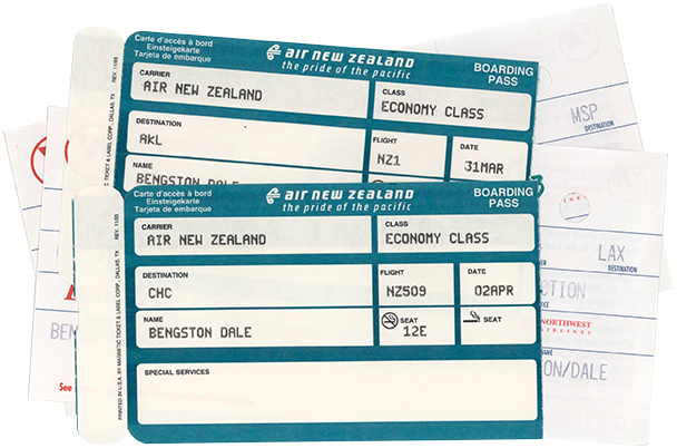 Boarding Passes for Four Flights