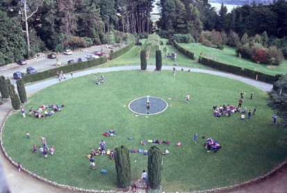 Main lawn from above