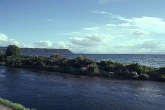 Waitahanui River meandering into Lake Taupo