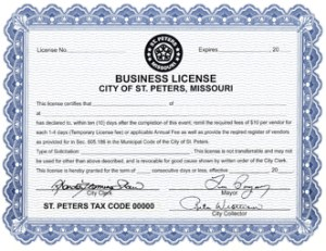 Example Business License