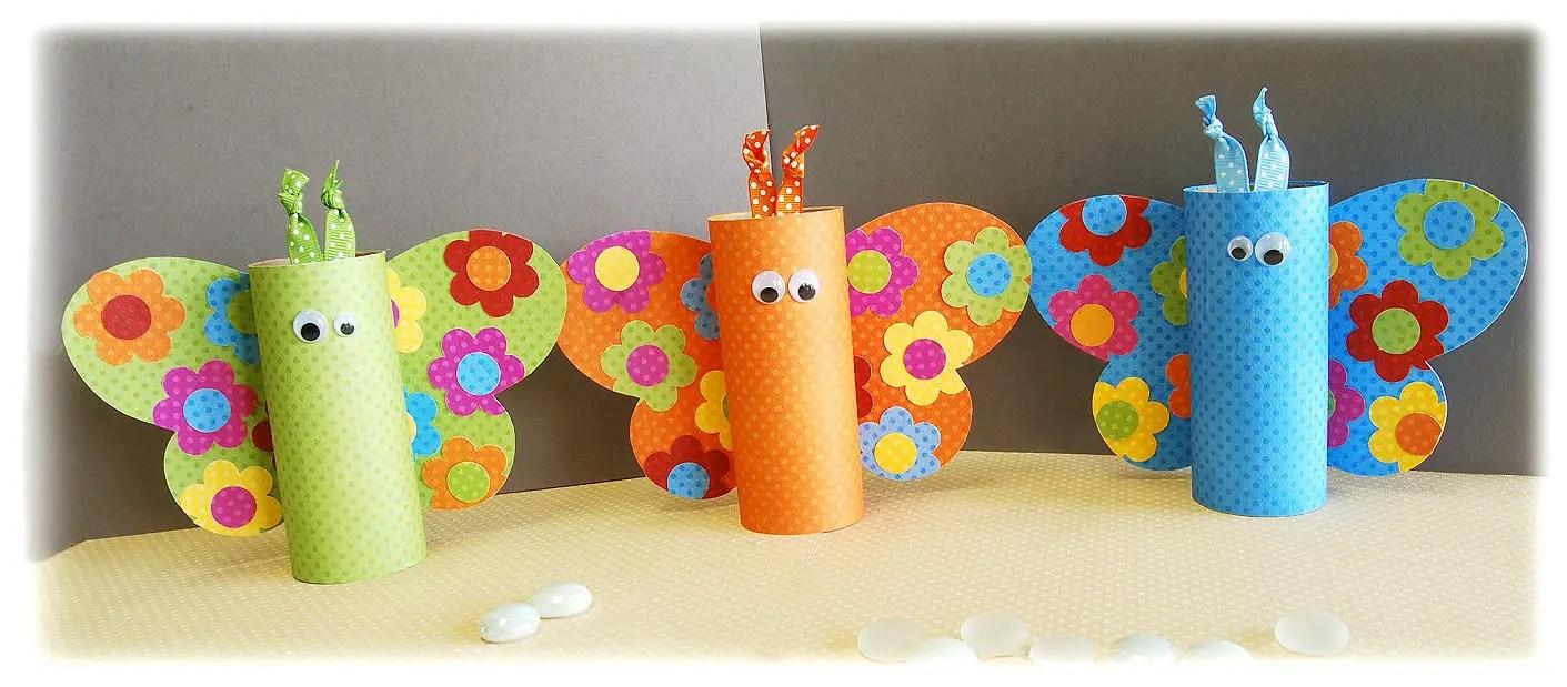 Mariposas con tubos de cartón - Dale Detalles