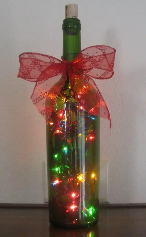 L mparas navide as con botellas de vino recicladas dale detalles - Botellas decoradas navidenas ...