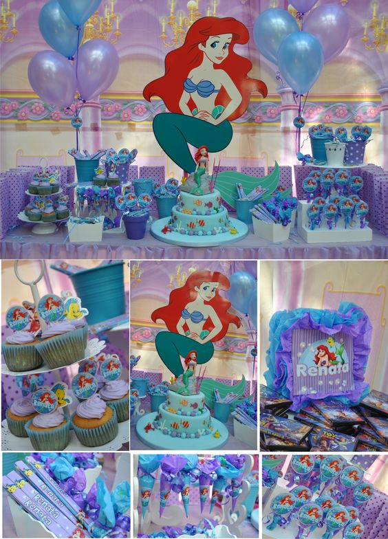 Sirenita ariel fiesta infantil dale detalles for Regalos para fiestas de cumpleanos infantiles