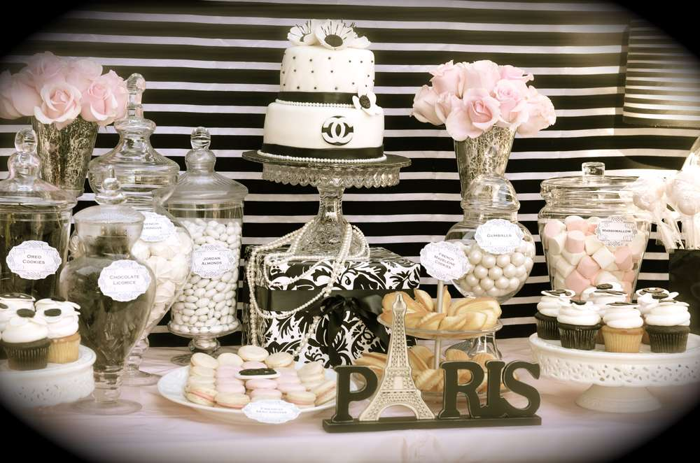 Cumplea os estilo coco chanel dale detalles for 35th birthday decoration ideas