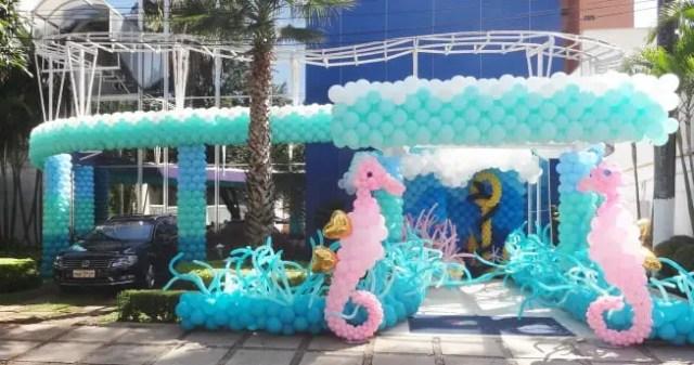 globo caballitos de mar