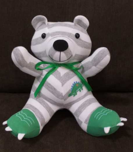 oso con mameluco reciclado