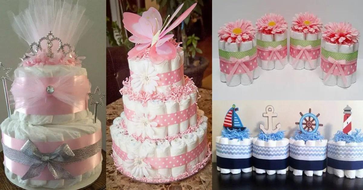 C mo hacer pastel de pa ales para baby shower dale detalles - Detalles para baby shower ...
