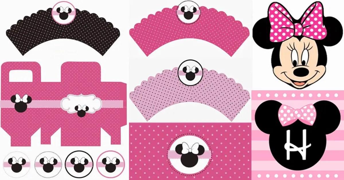 Imprimibles de Minnie en rosa - Dale Detalles