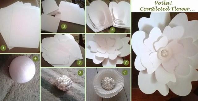 flor de papel molde