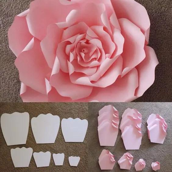 flor de papel molde2