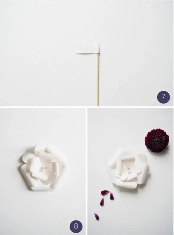 flor de papel molde6-4