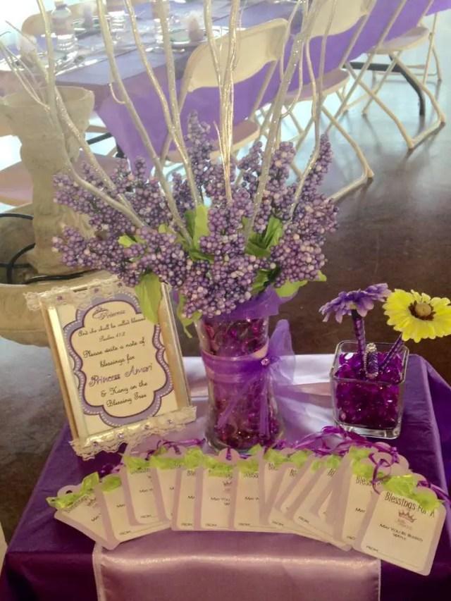 baby shower en tono purpura y verde16