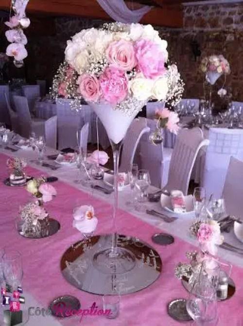 centro de mesa con copas21