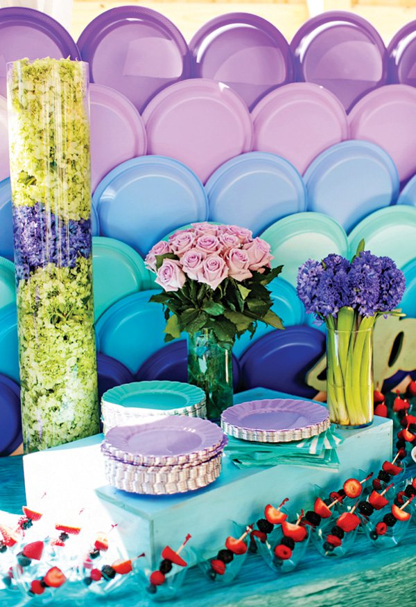 Decoraci n para fiesta con platos desechables dale detalles for Decoracion de fiestas