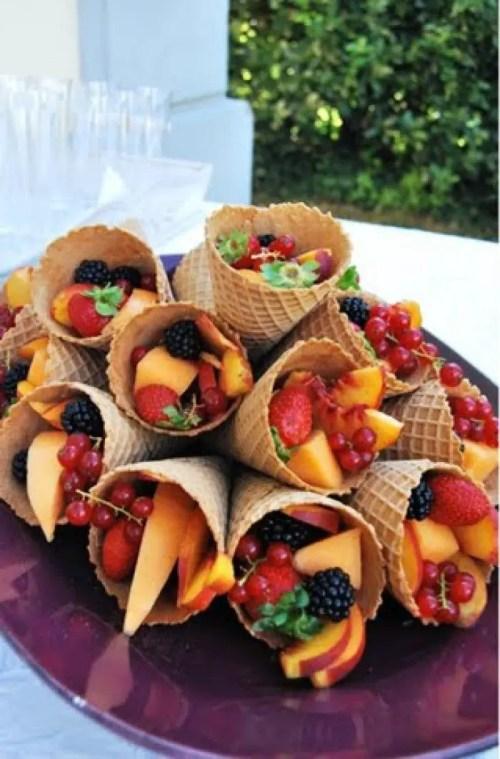 formas de servir fruta
