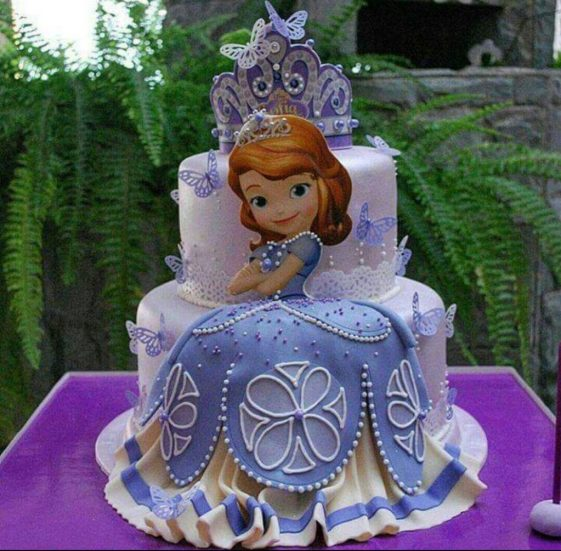 pastel de princesa sofia