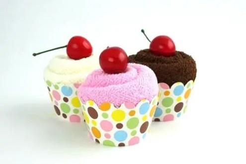 toallas cupcakes