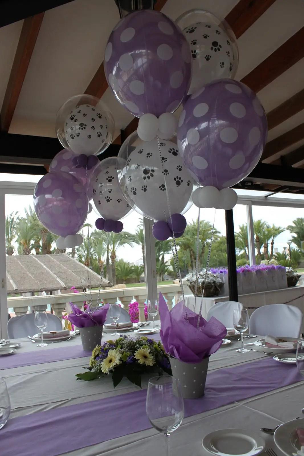 Incre bles centros de mesa con globos dale detalles for Bases para mesas de centro