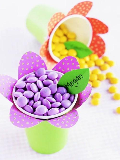 dulceros con vasos desechables