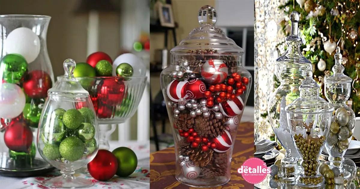 Adornos navide os con recipientes de vidrio dale detalles - Ideas adornos navidenos ...