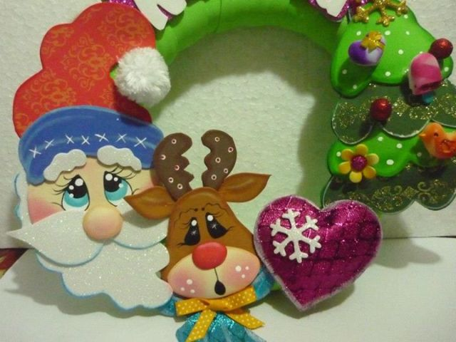 corona-de-navidad-foami