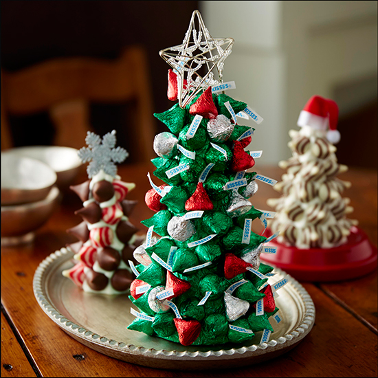 Bellas ideas para Navidad con chocolates Kisses de Hershey